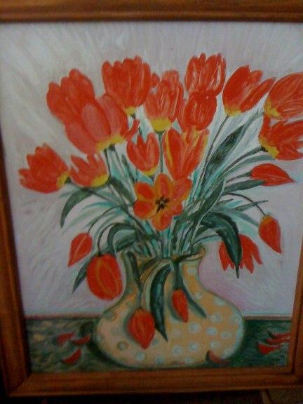 tablou cu lalele