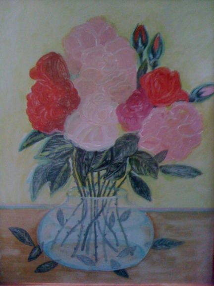 tablou cu trandafiri
