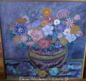 tablou flori pe panza 2012