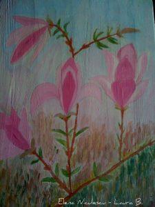 magnolie roz pe lemn v apr 2014