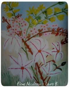 magnolie stelata cu forsitzia pe lemn