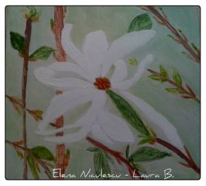 minitablou cu magnolie alba apr '14