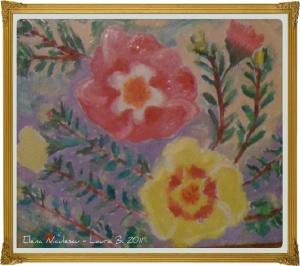 flori de piatra minitablou framed