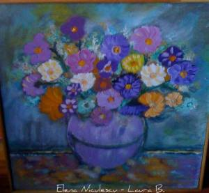 tablou cu flori de Sfanta Maria